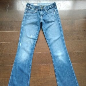 Gap Blue Jeans Sexy Boot Cut Ladies Size 26 / 2
